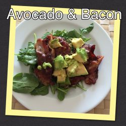 Avocado & Bacon Salad
